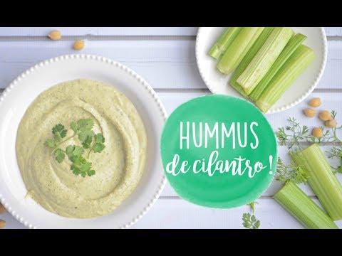 Hummus de cilantro! | Receta Saludable - KeepItCaro