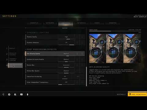 How to Enable Order independent transparency in Black Ops 4