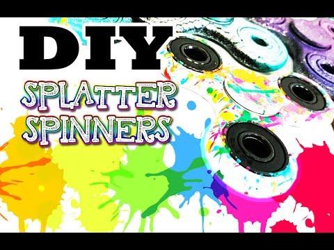 Graffiti Paint Splatter Fidget Spinner - Tips and Tricks for making Custom Spray Painted