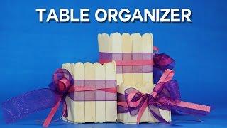 Popsicle Stick Crafts - DIY Desk Organizer From Ice Cream Sticks