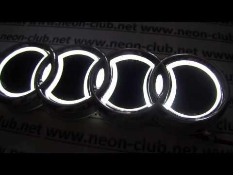 Car sticker 5D Audi auto badge light, logo sticker, audi parts for A1 A3 Q5 Q3 TT
