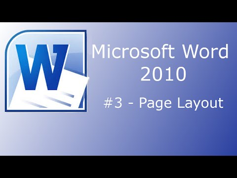 Microsoft Word 2010 - Page Layout