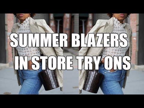 SUMMER BLAZER CHALLENGE | ZARA, JCREW, H&M + MORE!!