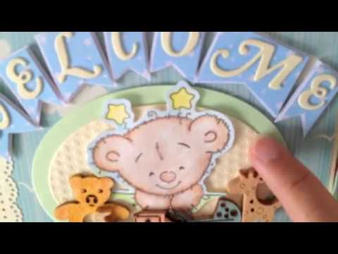 Scrapbook mini album for baby boy (scrapbook pour petit garçon)