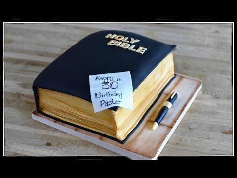 Bible cake tutorial | 3d book cake