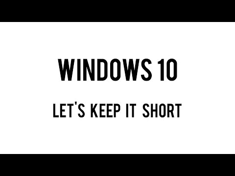 Windows 10 - A Damn Short Review