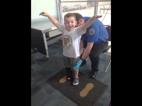 Ethan getting searched at airport