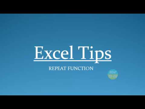 How To Use Repeat Function in Excel