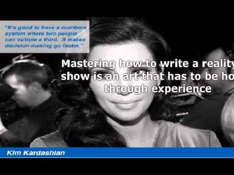 How To Write A Reality TV Show