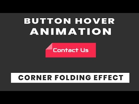 Button Animation with Corner Fold effect | Quick CSS Tricks and Tips