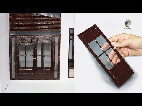 DIY Popsicle Stick Door for Miniature House