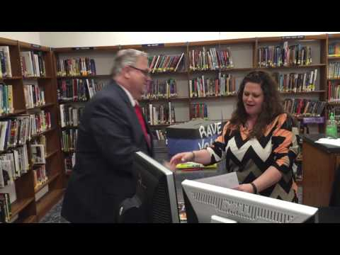 Teachers surprised in their classroom with awarded grant money