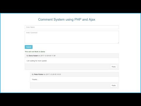 Live PHP Comment System using Ajax Jquery