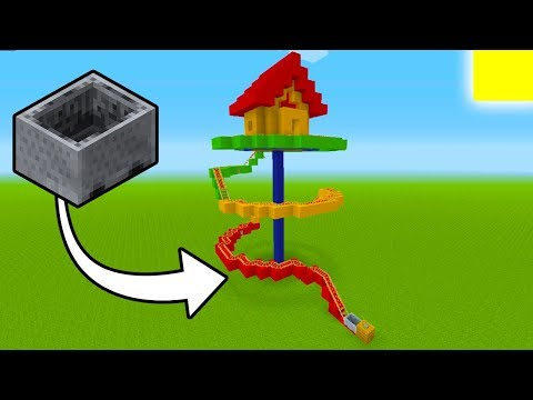 Minecraft Tutorial: How To Make A Roller Coaster House