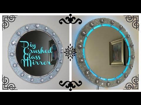 DIY - BLING CRUSHED GLASS ILLUMINATING MIRROR - GIVEAWAY