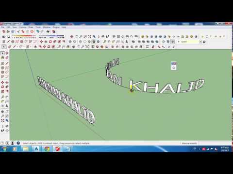 SketchUp: Bend Text with the