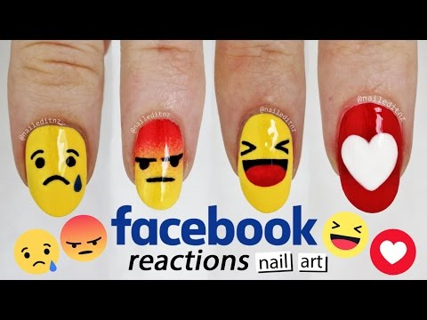 ♥ FACEBOOK REACTIONS NAIL ART ♥ Ultimate FB addict nails | Nailed It NZ