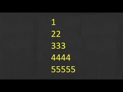 Numeric Pattern In Java - 2