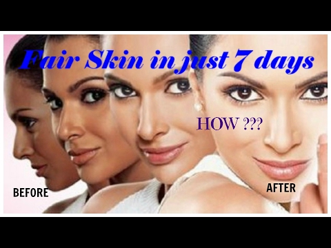Get Fair Skin in Just 7 Days/Miracle Remedy | Perfect for All Skin type | Fairness challenge