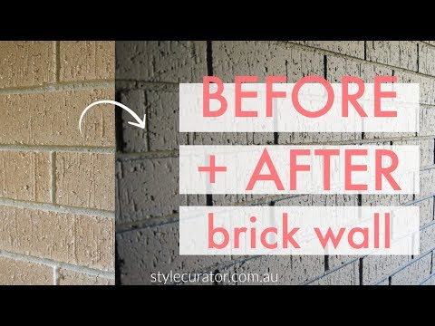Internal brick wall before and after: how to paint a brick wall