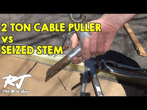 Removing Seized Handlebar Stem Using Cable Puller Winch
