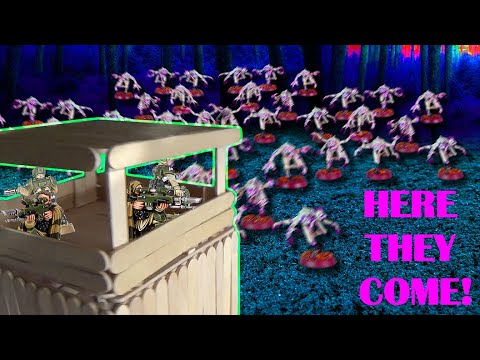 Popsicle Stick Creations - Guard Tower - Continued