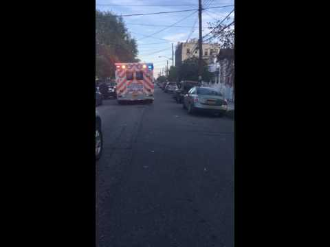 New York Queens Hospital ambulance responding - Jamaica