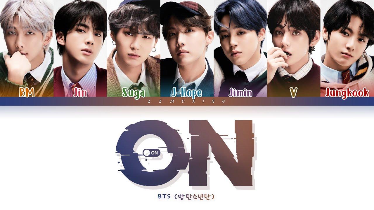 BTS ON  (방탄소년단 ON 가사) [Color Coded Lyrics/Han/Rom/Eng]