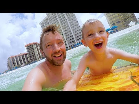 Father Son BOOGIE BOARDING!