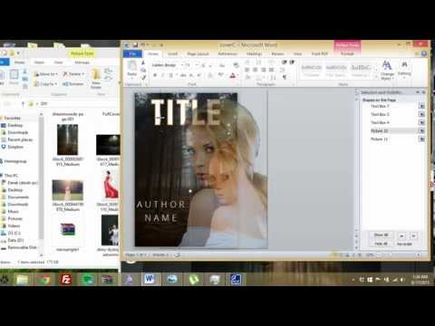 How to make a Kindle book cover in MS Word (3)
