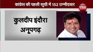 राजस्थान का रण- कांग्रेस की पहली सूची में 152 उम्मीदवार