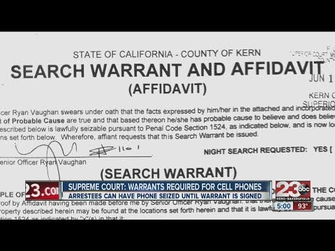 U.S. Supreme Court: Warrants required to search cell phones