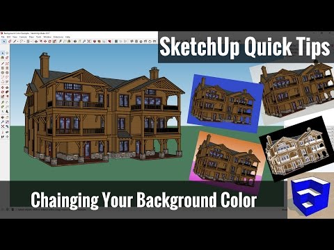 Changing the Background Color of Your SketchUp Model - SketchUp Quick Tips