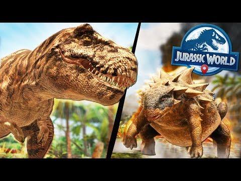 TYRANNOSAURUS REX + HYBRIDS?! - Jurassic World Alive Game