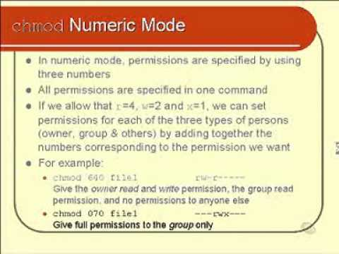 linux and unix basics: Changing File Permissions