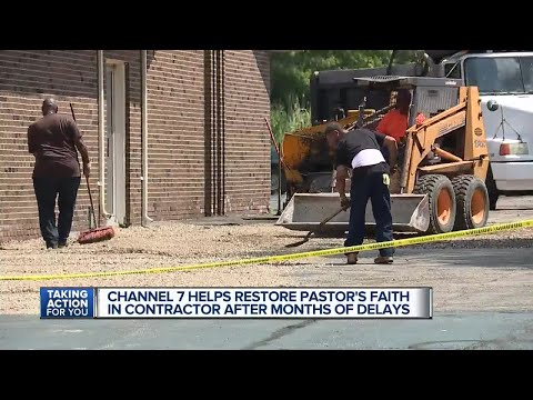 Metro Detroit contractor completes church job after Channel 7 takes action