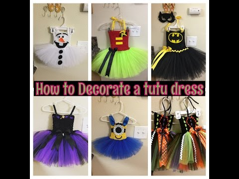How to Decorate tutus and tutu dresses: video series