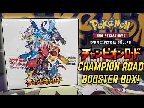 Pokemon CHAMPION ROAD SM6b Japanese Booster Box Opening!