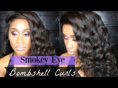 GRWM Purple Smokey Eye + Bombshell Curls  Nae and Nea