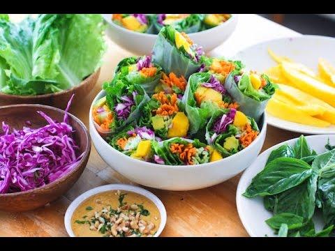 Epic Vegan Thai Summer Rolls Hawaii Style !