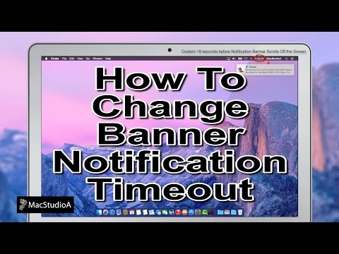 How To Change the Banner Notification Timeout in Mac OS X