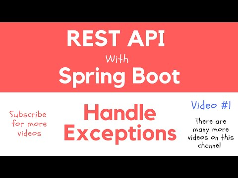 REST API with Spring Boot - Handle Exceptions in Spring MVC RESTful Web Service Application