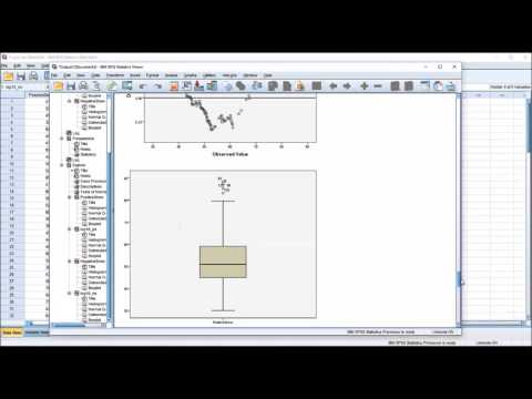 Log Transformation (Log10) using SPSS with Conversion Back to Orignal Units