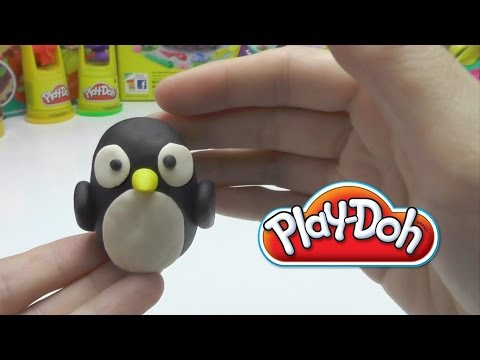 Play-Doh - How to Make a Clay Penguin DIY
