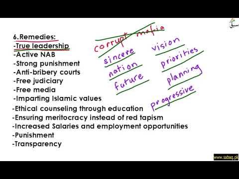 Essay Outline (Corruption) Part 3