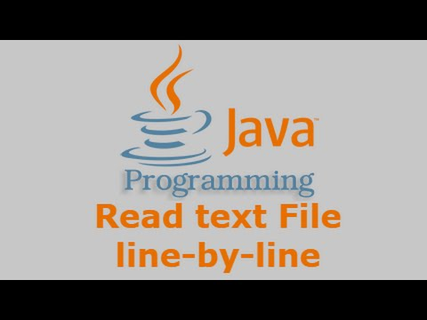 Java Tutorial - Read text File line by line