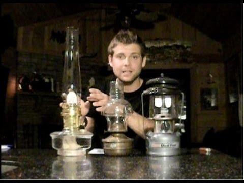 Pressure Gas Coleman vs  Oil Lamp vs Aladdin Oil Lamp