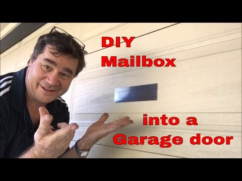 How to install a letter box into your Panel Lift garage door. Easy and cheap DIY project.