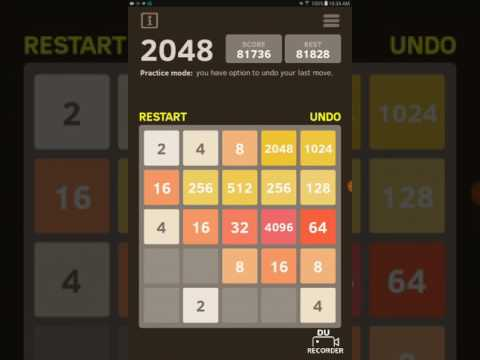 Getting the 8192 tile in 2048! Part 1! This is crazy!