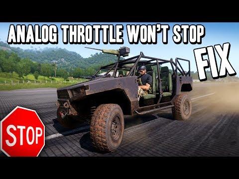 ARMA 3 - Controller Analog Throttle Won't Stop FIX - Adjust Deadzones!